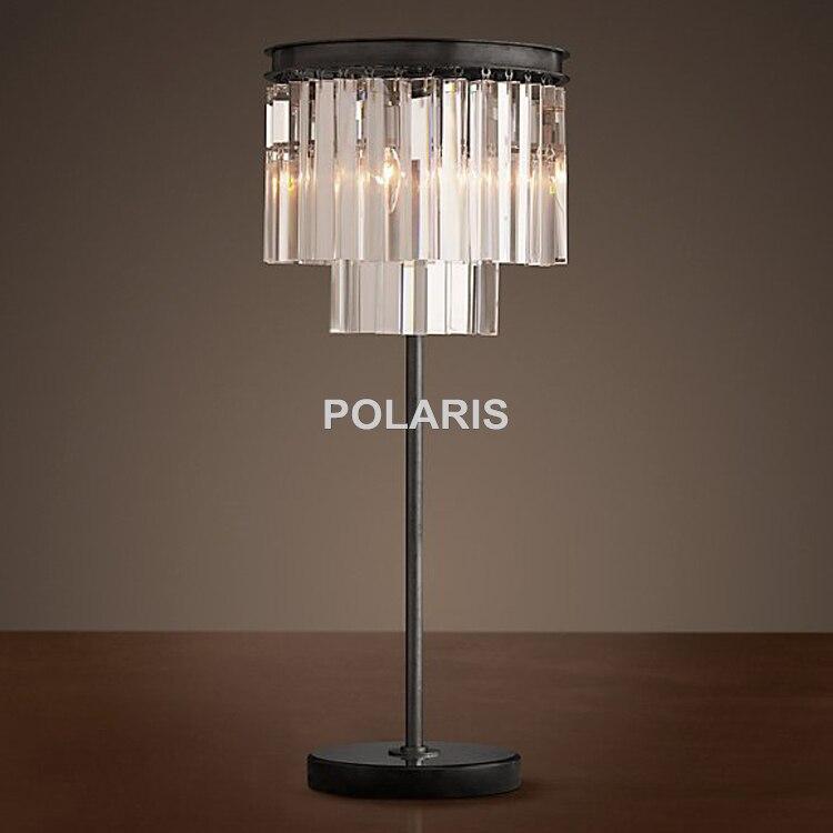 Sortie d'usine moderne Vintage lampe de Table en cristal lampe de bureau pour la maison hôtel lit chambre décor