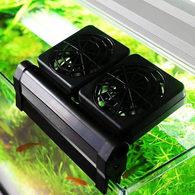 High Quality 1/2/3/4 Aquarium Cooling Fan Fish Tank Cold Wind Chiller Adjustable 2 Level Wind 100-240V Temperature Control