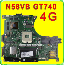 Original N56VB Laptop Motherboard for Asus REV2.3 Mainboard GT740 4G PGA 989 HM76 Fit N56VM N56VJ N56VZ N56VV tested well