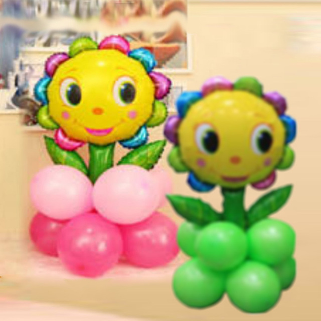 Welcoming corridor decor sunflower and latex balloons wedding welcoming corridor decor sunflower and latex balloons wedding decorations party supplies business promotion props 2pcs junglespirit Gallery