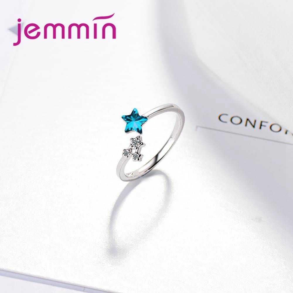 แฟชั่นเครื่องประดับอุปกรณ์เสริมผู้หญิงน่ารักออกแบบ 925 เงินสเตอร์ลิงเปิดแหวนสำหรับเจ้าสาวอินเทรนด์นิ้วมือเปิดแหวน