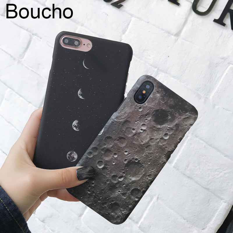 Have An Inquiring Mind Boucho Fashion Space Eclipse Of The Moon Phone Case For Iphone Xs Max Xr X 7 8 6 6s Plus Cases Planet Matte Hard Cover Choice Materials Phone Bags & Cases