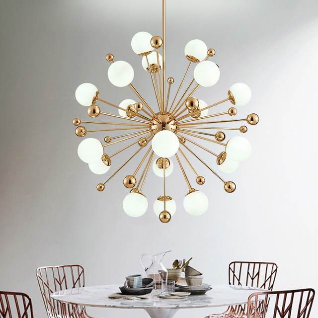 Free shipping vintage magic hanging light stylish sphere art free shipping vintage magic hanging light stylish sphere art dandelion iron droplight gold tree classic modern audiocablefo