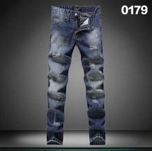 18 стиль 2016 новых Осенью и зимой Высокого качества Джинсы мужчин марка мужские брюки отверстие моды кошка должна быть Вода Для стирки