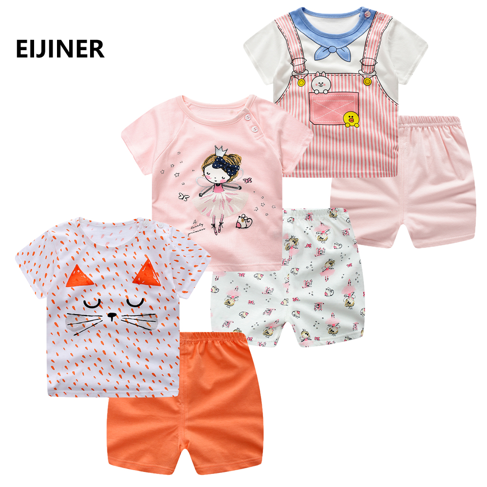 Child Ladies Clothes Units Summer time Youngsters Garments For Ladies Dancing Rabbit + Shorts 2Pcs Youngsters Cartoon Flower Kids's Garments Fits