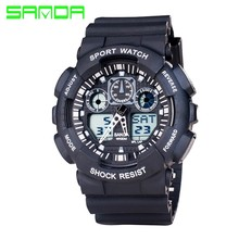 2017 New SANDA Fashion Watch Men G Style Waterproof Sport Quartz Watches Shock Men's Relogio Digital Watch Reloj Hombre
