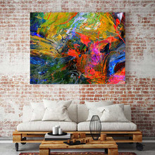 Canvas painting art prints poster abstract wall picture colourful oil painting photo for living room home decoration no frame(China)