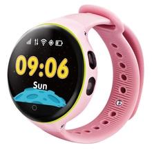 GPS를 어린이 시계 전화 지켜 아이를위한 스마트 시계 시계 라운드 터치 스크린 실시간 모니터 글로벌 포지셔닝 3C 인증
