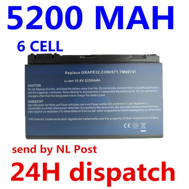 5200 mah batería para acer extensa 5210 5220 5235 5420g 5620g 5620Z 5630 5630G 5635 5635G 7220 7620 7620G 5635Z GRAPE32 GRAPE34