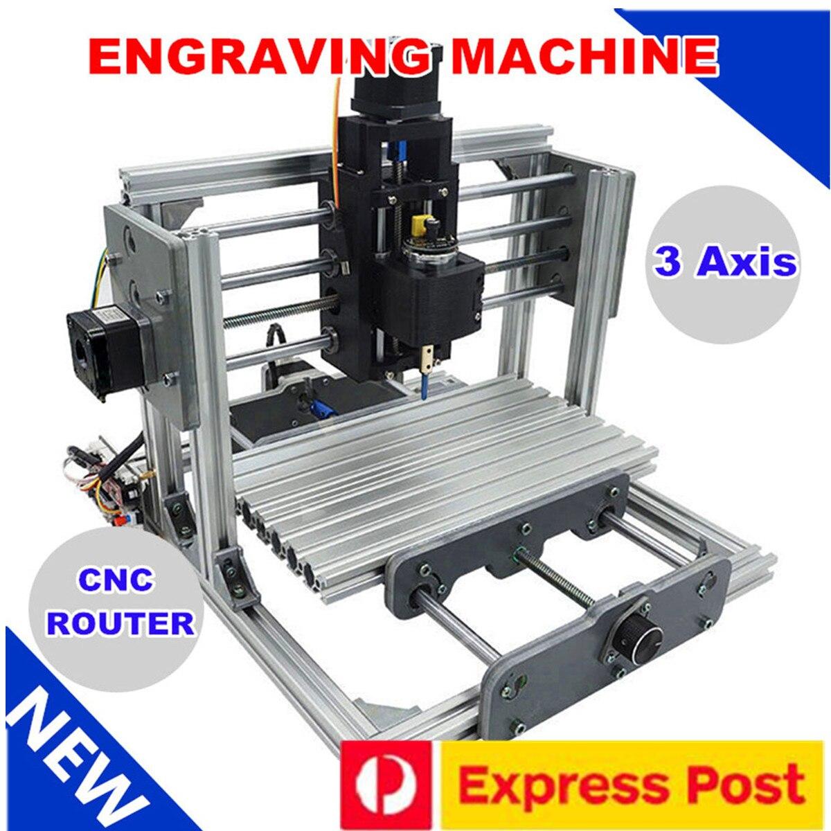 2417 3 axes Mini bricolage CNC routeur bois envie de gravure découpe fraisage bureau graveur Machine 240x170x65mm