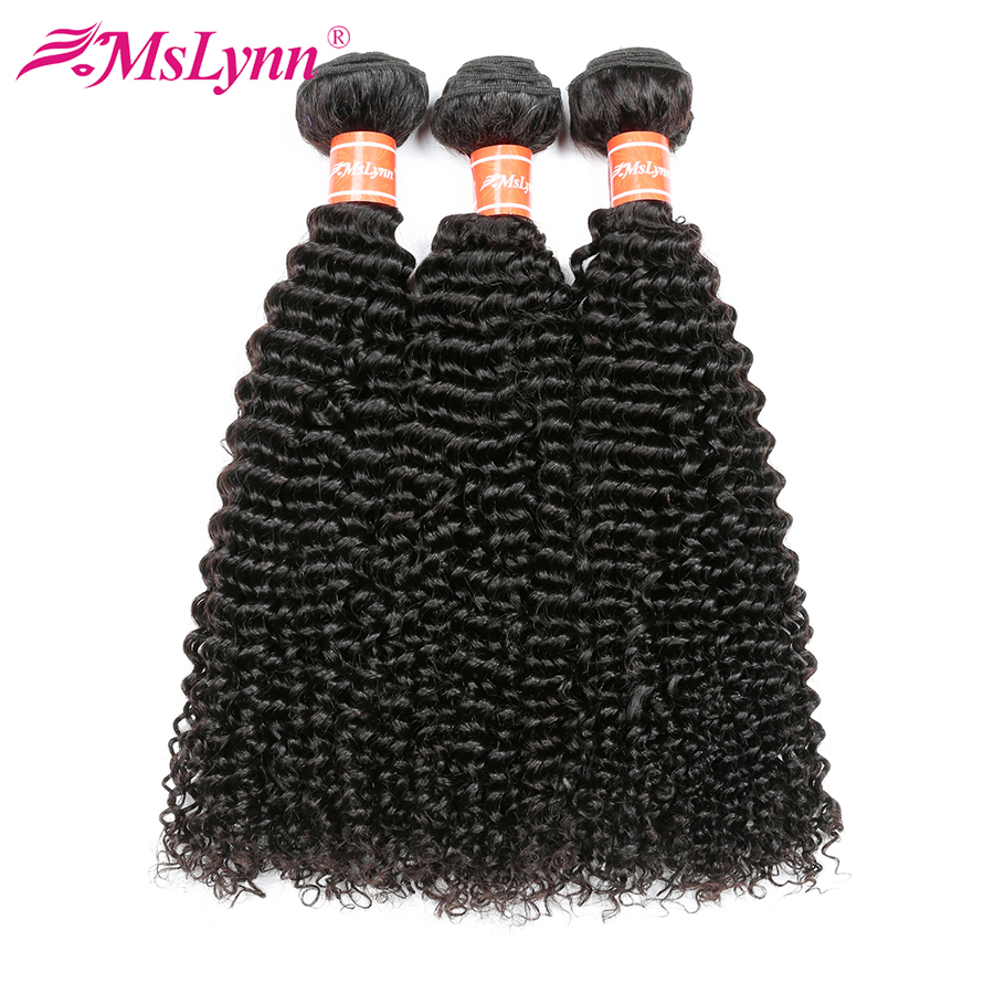 3 Bundle Deals Afro Kinky Curly Hair Bundles Indian Hair Extensions Human Hair Bundles Natural Black Mslynn Non Remy Hair Weave