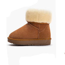 women snow boots fashion genuine leather round toe warm faux fur hot sale boot zapatos of de mujer calssic
