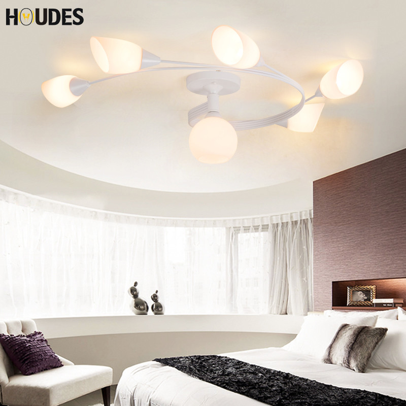 LED White Ceiling lighting Indoor Bedroom Ceiling Lamps Fixtures Home Modern American country style Living room Ceiling Lights led white ceiling lighting indoor bedroom ceiling lamps fixtures home modern american country style living room ceiling lights
