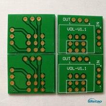 IWISTAO Blindagem Dupla Potenciômetro PCB 6 pçs/lote para ALPES 27 e 16 Tipo 100 K 50 K 10 K HIFI DIY Livre grátis