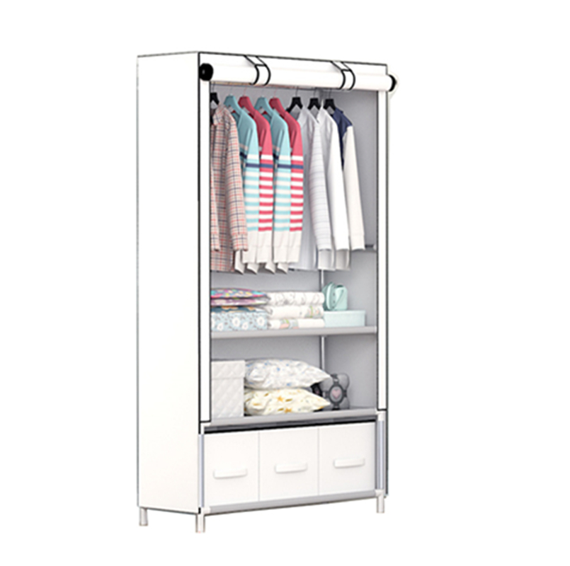 New Modern Simple Wardrobe Household Fabric Folding Cloth Ward Storage Assembly Reinforcement Size:160*45*90CM the new cloth wardrobe simple reinforcement of low housing assembly large folding cloth