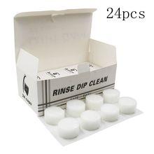 24pcs/bag Tattoo Disposable Dip Foam for Needle and Tip Rinse Dip Clean Professional Cartridge DipFoam Cleaning Cup Tattoo Clean ta75902p dip 14
