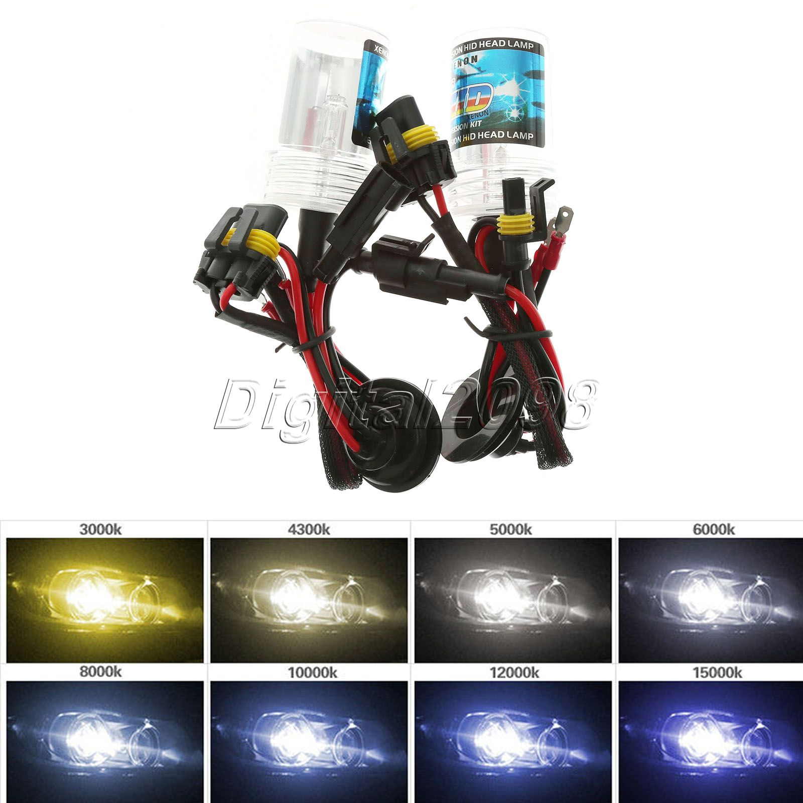 2pcs V W Xenon HID Replacement Headlight Bulbs Lights Lamp H3