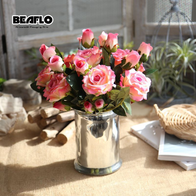 1PC τεχνητό βελούδο τριαντάφυλλο 3 - Προϊόντα για τις διακοπές και τα κόμματα - Φωτογραφία 4