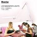 Bluerise Plugue DA UE LEVOU Luz Lâmpada de Mesa Branco De Vidro Dobráveis Leitura Candeeiro de Mesa de Luz Estudo Prego Salão de Beleza Do Prego