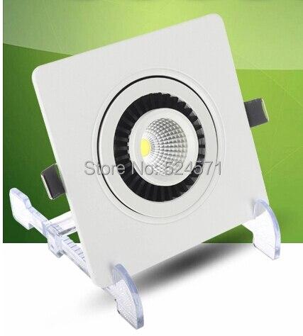 Оптовая продажа удара Регулируемый 10 Вт затемнения,/square Встраиваемая painel вниз свет вращения 360 градусов вращающийся Luminaria 85- 265 В