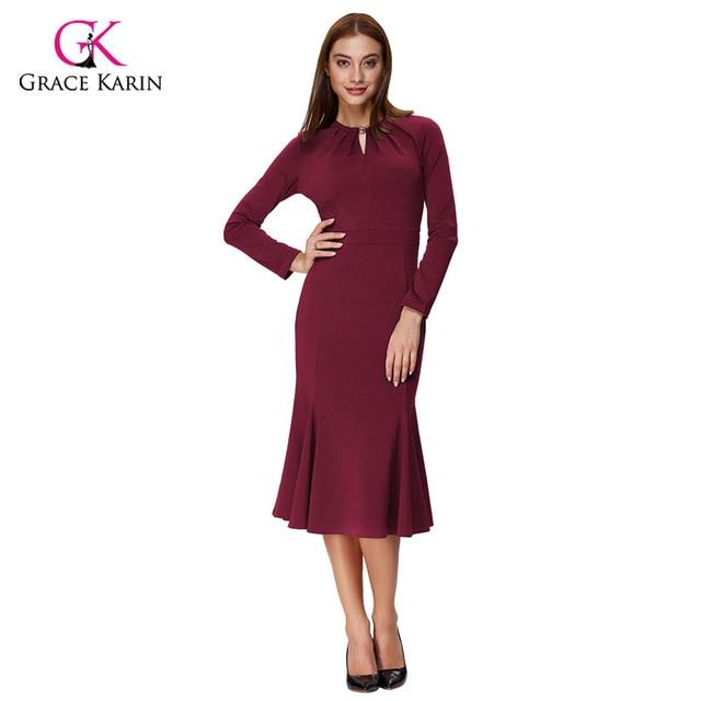 Grace Karin Women Evening Dress Long Sleeve Formal Gowns Elegant ...