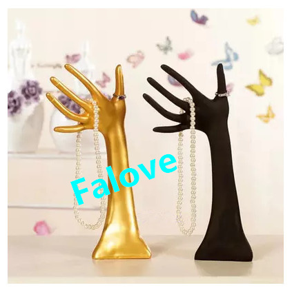<font><b>Free</b></font> Shipping !! Plastic <font><b>Mannequin</b></font> <font><b>Hands</b></font> Display Jewelry <font><b>Ring</b></font> <font><b>Bracelet</b></font> Necklace Display Stand Holder image