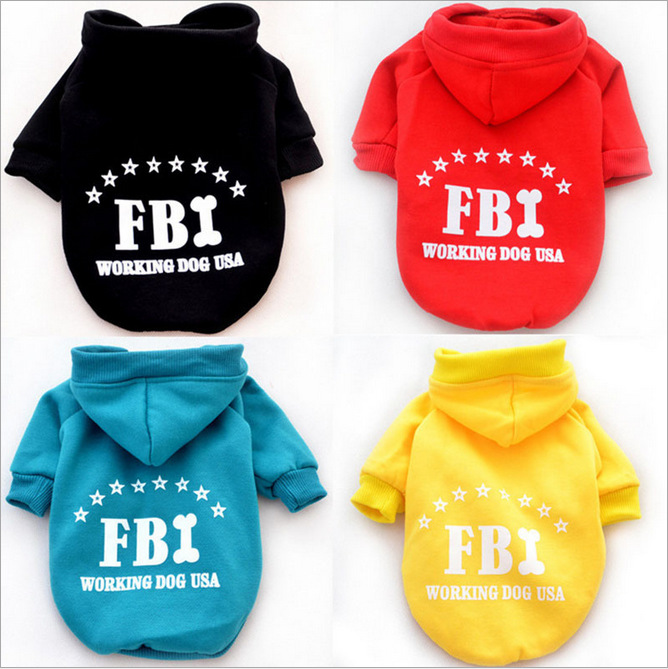 Springand summer new petclothes printed letters hoodie fleece sweater small dogs Teddy French Bulldog and other small andmedium