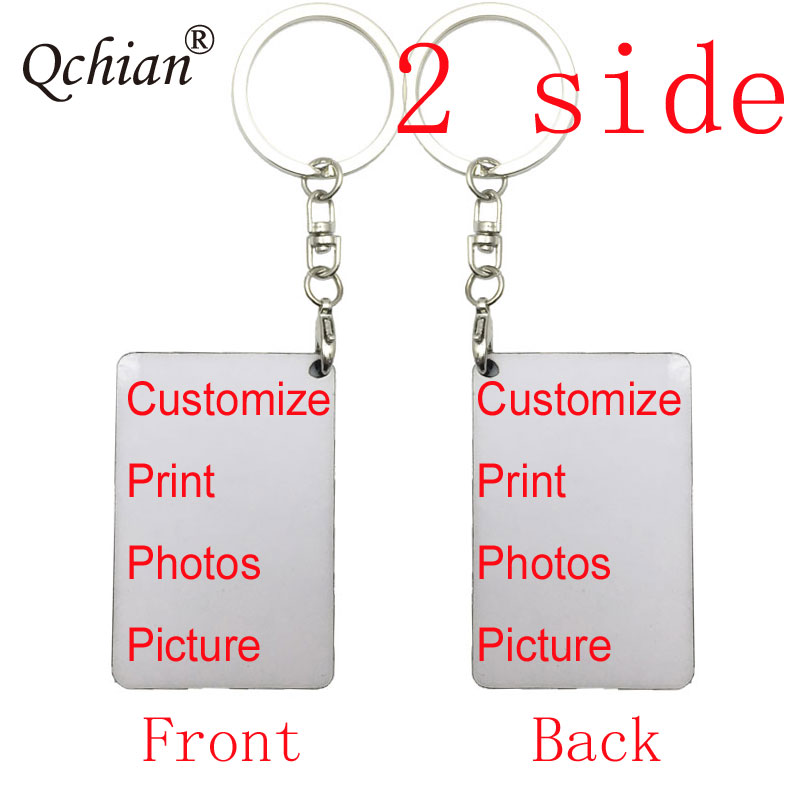 1pcs/lot Customized keychain Photo print Key Chains Need Customers to Provide Pictures