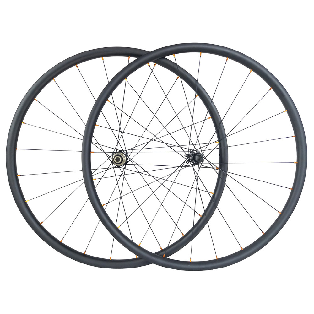 Light weight 1220g 29er MTB XC 30mm x 30mm hookless 24H 28H straight pull carbon wheelset D411SB D412SB 6 bolt or CL disc wheelsBicycle Wheel   -