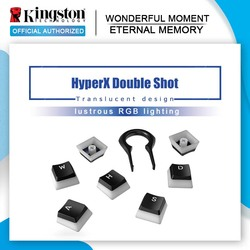Kingston-Tapón de llave HyperX, doble disparo, pbt, completo, 104, matorral traslúcido, tapa mecánica para el teclado