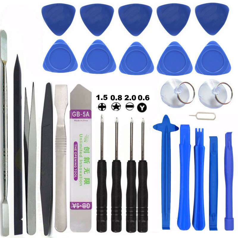 цена 29 in 1 Mobile Phone Repair Tools Kit Spudger Pry Opening Tool Screwdriver Set for iPhone iPad Samsung Cell Phone Hand Tools Set
