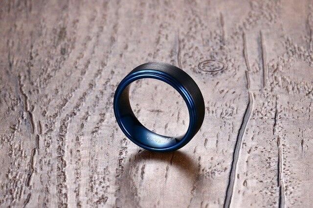 Фото модная бижутерия 1 шт модное простое 8 мм черное матовое вольфрамовое