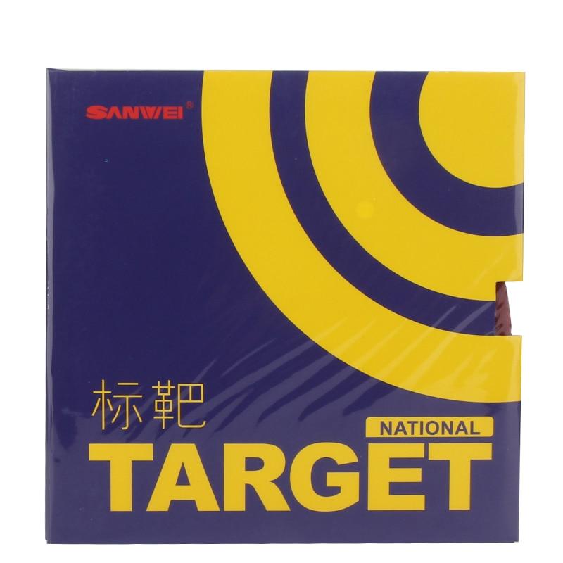 SANWEI Target nacional con esponja azul Mesa tenis goma espinillas en Ping Pong Goma