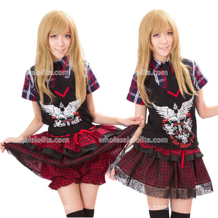 Top Sale Fashion Lolita Cute Plaid Shorts Skirts Any Size