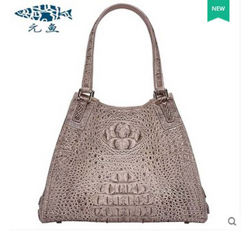 yuanyu 2017 new hot free shipping real crocodile leather women handbag holding women bag high-end female bag yuanyu 2017 new hot free shipping crocodile handbag leather handbag handbag lock high capacity crocodile leather women bag