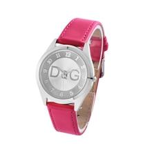 Zegarki Damskie Cheap! Luxury brands Women Silver Leather Quartz Watch Fashion Lady Outdoor Sport Hot sale reloj mujer