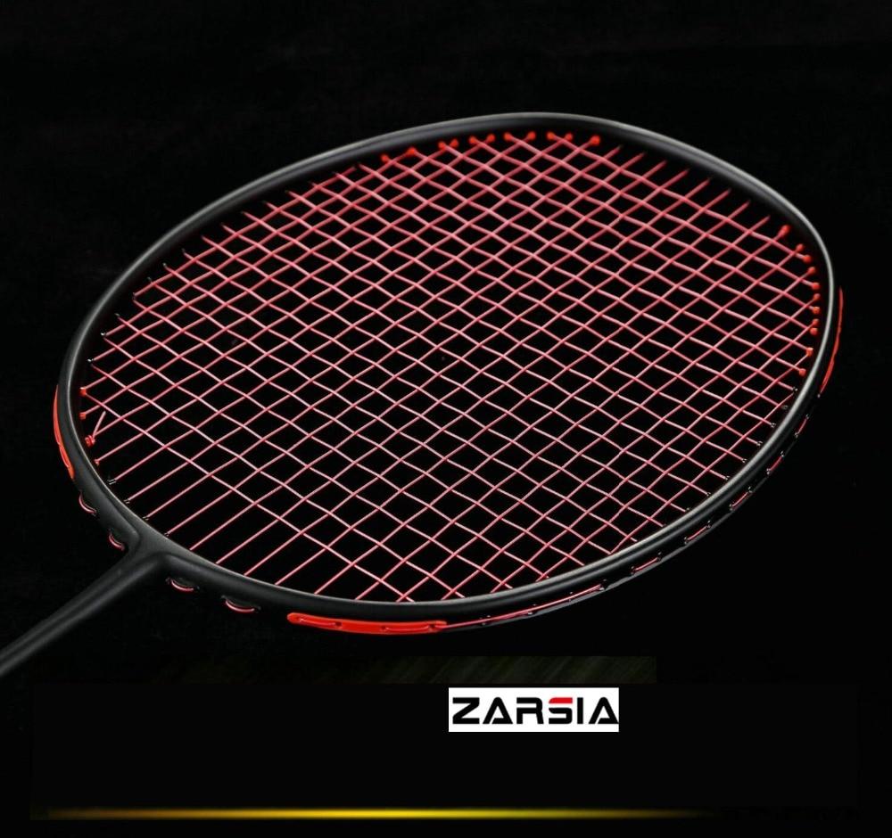 Raquette de Badminton 2018 ZF-II raquette d'entraînement de raquette de badminton 100% carbone