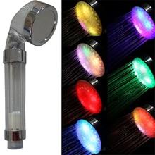 Multicolor parpadeo rápido A Grade ABS Lluvia Cabeza de Ducha del LED Que Cambia de Color, Chuveiro ducha Quadrado