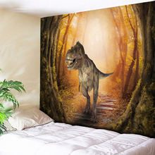 Natural Forest Animal Decorative Tapestry Wall Hanging Dinosaur  Psychedelic Home Decor Hippie Tapestries Yoga Mat