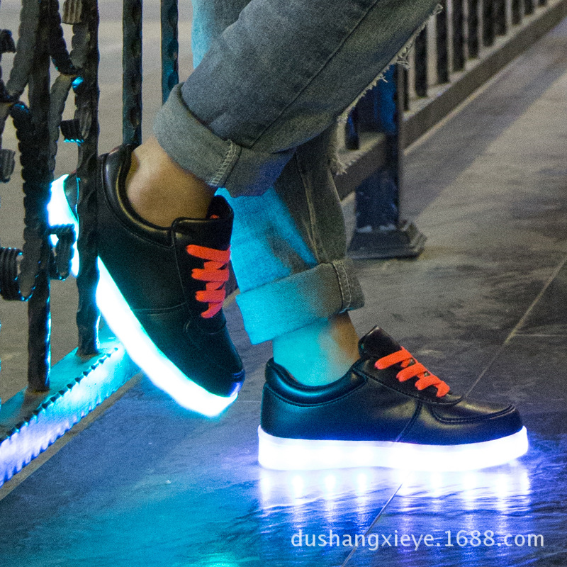 ФОТО 30-35 Size /Children Shoes With Light /Boys Girls Led Shoes With Usb Charging Light Shoes Luminous Kids Casual