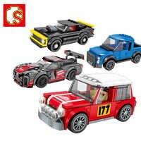 Sembo blocs diamant Voiture GTR Compatible LeSet technique Voiture Ford Mustang briques de construction jouets éducatifs anniversaires garçons cadeaux