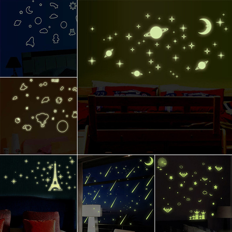 buy universe starry luminous stickers planet star moon glow in the dark. Black Bedroom Furniture Sets. Home Design Ideas