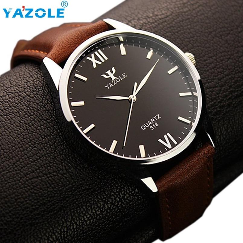 YAZOLE Wrist Watch Men Top Luxury Famous Wristwatch Male Clock Quartz Watch Hodinky Quartz Watch Relogio Masculino #A76