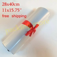 28X42CM 100PCS White Poly Self Seal Mailbags Plastic Courier Destructive Poly Mailing Plastic Bags Express Mail