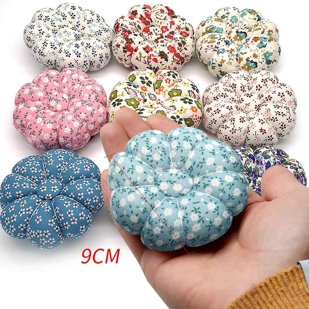 1Pcs Pin Cushions Handcraft Tool For Cross Stitch Sewing Home Sewing Tools Fabric Pumpkin Shape Holder With Elastic Wrist Band