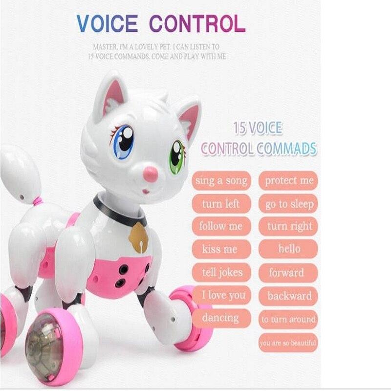Интеллектуальный сенсорный индукционный беспроводной робот собака игрушка для детей мальчиков и девочек Голосовая ходьба умная собака и к
