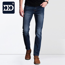 2016 Exclusivo Hombres Suavizante Deep Blue Jeans Homme Delgado Elástico Fábrica de Jeans Skinny Jeans Hombres de Marca Para Hombre Pantalones Vaqueros de Diseño Pantalones