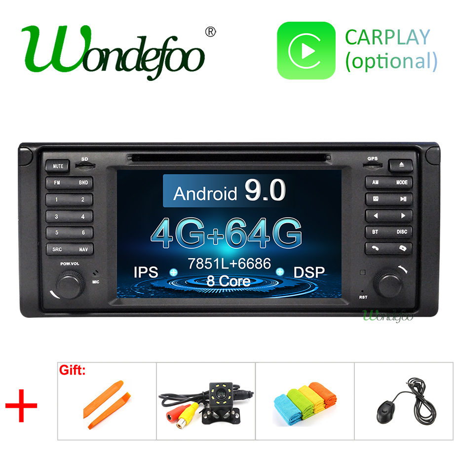 IPS DSP Android 9 0 4G RAM 64G ROM Car GPS For BMW X5 E53 E39