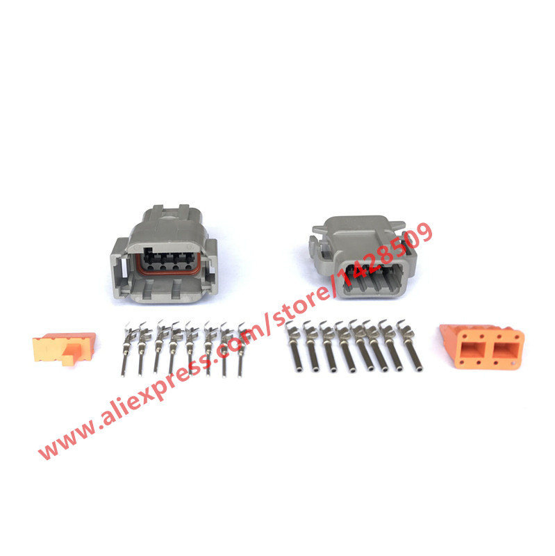 10 Sets DUETSCH 8 Pin Waterproof Plug DTM06 8S DTM04 08P/ATM04 08P Car Electrical Connector With Terminal And Seal-in Connectors from Lights & Lighting    1