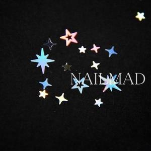 Image 4 - Mezcla de purpurina y estrellas holográficas, 1 caja, estrellas, lentejuelas, Cruz, estrellas, adornos Nail Art